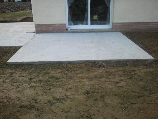 Terrasse lens am nagement et construction b thune les for Construire terrasse beton